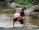 Tiffany Wood in Bakasana, Crow Yoga Pose at her Mexico Retreat