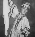 Young Tiffany Wood in a Russian Outfit